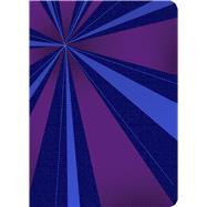 RVR 1960 Biblia Compacta Letra Grande, rayos de azul/violeta símil piel con índice by Unknown, 9781433643552