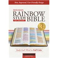 KJV Rainbow Study Bible, Mantova Brown LeatherTouch, Indexed by Holman Bible Staff, 9781433613586