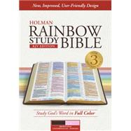 KJV Rainbow Study Bible, Brown/Pink LeatherTouch, Indexed by Holman Bible Staff, 9781433613609