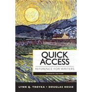 Quick Access Reference for Writers by Troyka, Lynn Quitman; Hesse, Doug, 9780205903610
