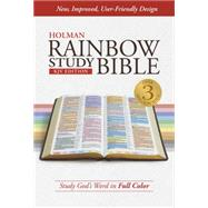 KJV Rainbow Study Bible, Jacketed Hardcover, Indexed by Holman Bible Staff, 9781433613616