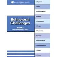 Behavioral Challenges In Early Childhood Settings by Smith, Connie Jo, 9781933653617
