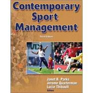 Contemporary Sport Management by Parks, Janet B., 9780736063654
