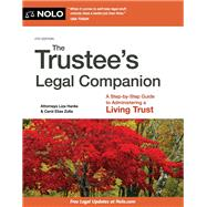 The Trustee's Legal Companion by Hanks, Liza; Zolla, Carol Elias, 9781413323658