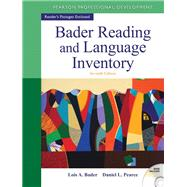 Bader Reading & Language Inventory by Bader, Lois A.; Pearce, Daniel L., 9780132943680