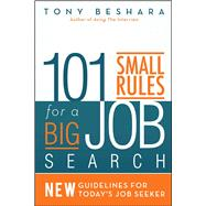 101 Small Rules for a Big Job Search by Beshara, Tony, 9781682613689
