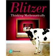 THINKING MATHEMATICALLY by Blitzer, Robert F., 9780134683713