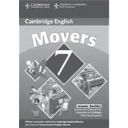 Cambridge Young Learners English Tests 7 Movers Answer Booklet: Examination Papers from University of Cambridge ESOL Examinations by Corporate Author Cambridge ESOL, 9780521173728