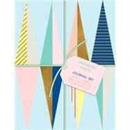 Geometric Pastel Petite Journal Set by Galison, 9780735343733