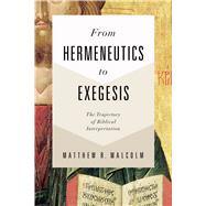 From Hermeneutics to Exegesis The Trajectory of Biblical Interpretation by Malcolm, Matthew, 9781462743773