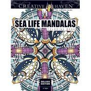 Creative Haven Deluxe Edition Sea Life Mandalas Coloring Book by Taylor, Jo, 9780486813783