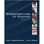 Employment Law for Business by Bennett-Alexander, Dawn; Hartman, Laura, 9780078023798