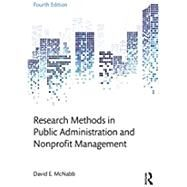 Research Methods in Public Administration and Nonprofit Management by McNabb; David E., 9781138743809