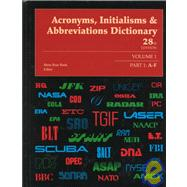 Acronyms, Initialisms & Abbreviations Dictionary by Bonk, Mary Rose; Dear, Pamela, 9780787633813