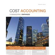 Cost Accounting Plus NEW MyAccountingLab with Pearson eText -- Access Card Package by Horngren, Charles T.; Datar, Srikant M.; Rajan, Madhav V., 9780133803815
