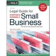 Legal Guide for Starting and Running a Small Business by Steingold, Fred S., 9781413313819