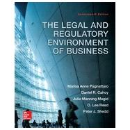 The Legal and Regulatory Environment of Business by Pagnattaro, Marisa; Cahoy, Daniel; Magid, Julie Manning; Reed, O. Lee; Shedd, Peter, 9780078023859