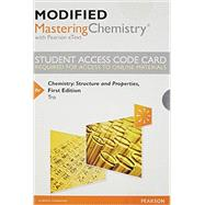 Modified MasteringChemistry with Pearson eText -- Standalone Access Card -- for Chemistry Structure and Properties by Tro, Nivaldo J., 9780321973863