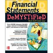 Financial Statements Demystified: A Self-Teaching Guide A Self-teaching Guide by Kramer, Bonita; Johnson, Christie, 9780071543873