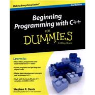 Beginning Programming With C++ for Dummies by Davis, Stephen R., 9781118823873
