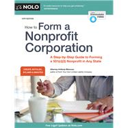 How to Form a Nonprofit Corporation by Mancuso, Anthony, 9781413323894