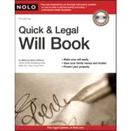 Quick and Legal Will Book by Clifford, Denis, 9781413313895
