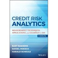 Credit Risk Analytics by Scheule, Harald; Baesens, Bart; Roesch, Daniel, 9781119143987