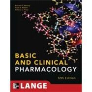Basic and Clinical Pharmacology 12/E by Katzung, Bertram; Masters, Susan; Trevor, Anthony, 9780071764018
