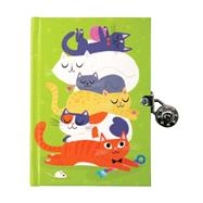 Cats Locked Diary by Black, Allison, 9780735344020