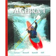Algebra 1, Grade 9: Mcdougal Littell High School Math by Holt Mcdougal, 9780618594023