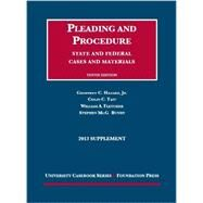 Pleading and Procedure by Hazard, Geoffrey C., Jr.; Tait, Colin C.; Fletcher, William A.; Bundy, Steven M., 9781609304034