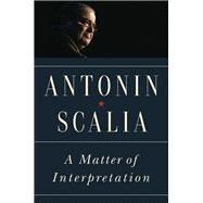 A Matter of Interpretation by Scalia, Antonin; Gutmann, Amy; Wood, Gordon S.; Amar, Akhil Reed; Calabresi, Steven G. (AFT), 9780691174044