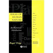 Ideas of Human Nature : An Historical Introduction by Trigg, Roger, 9780631214052