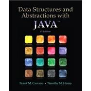 Data Structures and Abstractions with Java by Carrano, Frank M.; Henry, Timothy M., 9780133744057