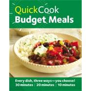 Quick Cook Budget Meals by Mcauley, Jo, 9780600624059