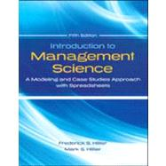 Introduction to Management Science by Hillier, Frederick;   Hillier, Mark, 9780078024061