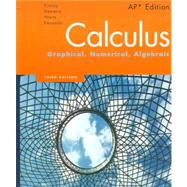 Calculus: Graphical, Numerical, Algebraic,  AP Edition by Finney, Ross L.; Demana, Franklin; Waits, Bert K.; Kennedy, Daniel, 9780132014083