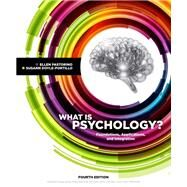 What is Psychology? Foundations, Applications, and Integration by Pastorino, Ellen E.; Doyle-Portillo, Susann M, 9781337564083