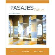 Pasajes:  Cultura by Bretz, Mary Lee; Dvorak, Trisha; Kirschner, Carl, 9780077264109