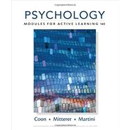 Psychology Modules for Active Learning by Coon, Dennis; Mitterer, John O.; Martini, Tanya S., 9781305964112