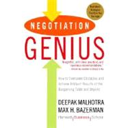 Negotiation Genius by MALHOTRA, DEEPAKBAZERMAN, MAX, 9780553384116