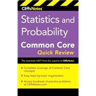 Cliffsnotes Statistics and Probability Common Core Quick Review by Alikhani, Malihe, 9780544734128