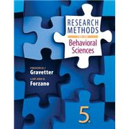 Research Methods for the Behavioral Sciences by Gravetter, Frederick J; Forzano, Lori-Ann B., 9781305104136