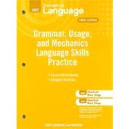 Elements of Language, Language Skills Practice Grade 7 (Workbook) by Holt, 9780030994142