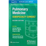 The Washington Manual Pulmonary Medicine Subspecialty Consult by Shifren, Adrian; Byers, Derek E.; Witt, Chad A., 9781451114171