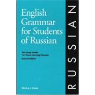 English Grammar for Students of Russian, 2nd Edition by Cruise, Edwina Jannie, 9780934034210