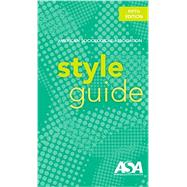 American Sociological Association Style Guide by American Sociological Association, 9780912764214