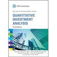 Quantitative Investment Analysis by Defusco, Richard A.; McLeavey, Dennis W.; Pinto, Jerald E.; Runkle, David E.; Anson, Mark J. P., 9781119104223