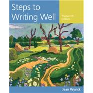 Steps to Writing Well by Wyrick, Jean, 9781305394223