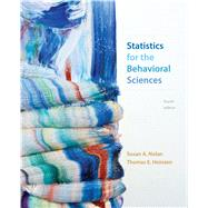 Statistics for the Behavioral Sciences by Nolan, Susan A.; Heinzen, Thomas, 9781319014223